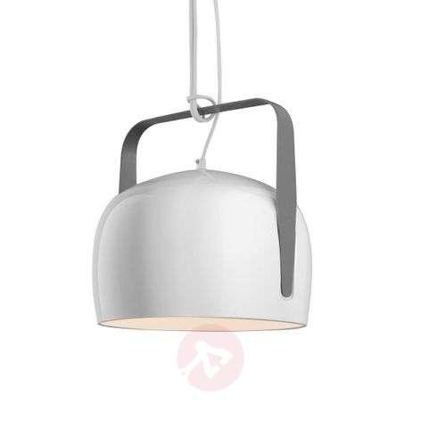 Karman Bag - white hanging light 21 cm, smooth