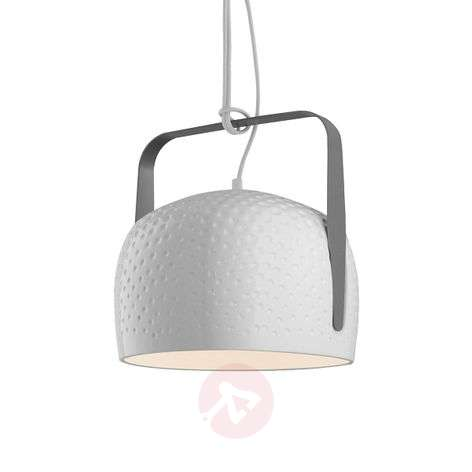 Karman Bag - white hanging light 21 cm, textured