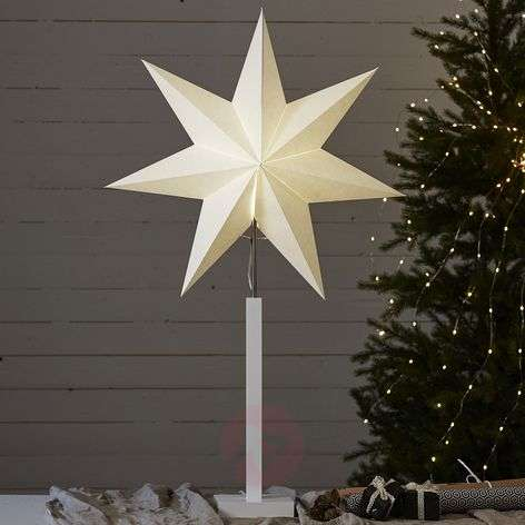 Karo standing star with a wooden base
