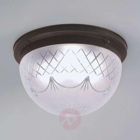 Karolin ceiling light, embellished glass shade