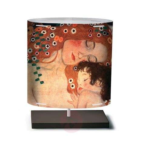 Klimt II - table lamp with art motif