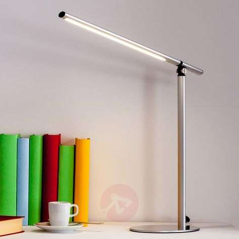 Kolja LED Desk Lamp in Silver Grey