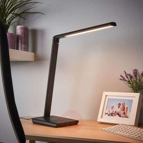 Kuno LED desk lamp with USB port-9643035-32