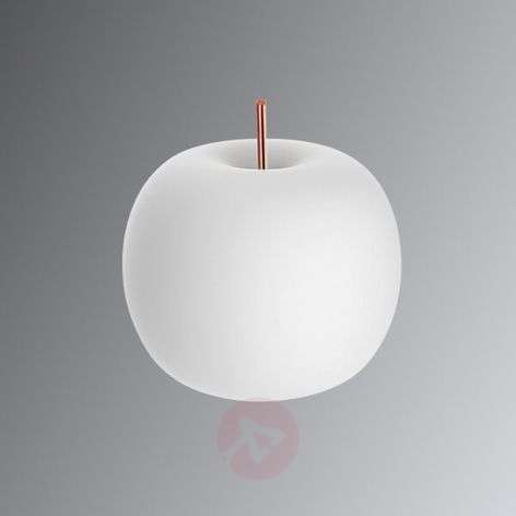 Kushi designer LED table lamp with copper bar