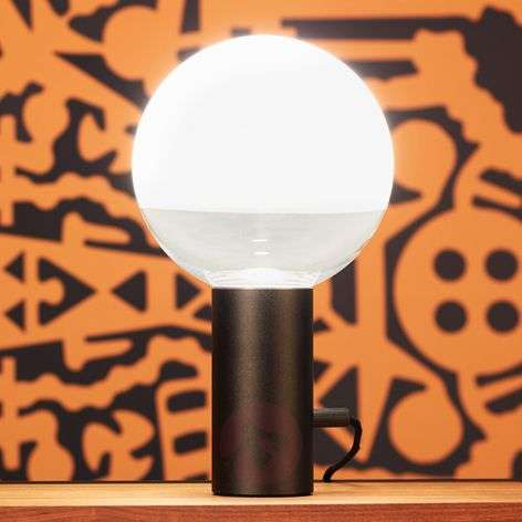 Kuula - a table lamp with a rotary dimmer, black