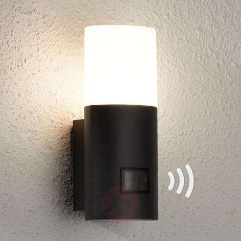 L900 LED outdoor wall light, sensor, anthracite