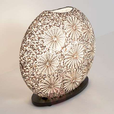 Labirena Oval table lamp made of shells