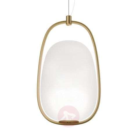 Lanna - stylish hanging light with a brass frame