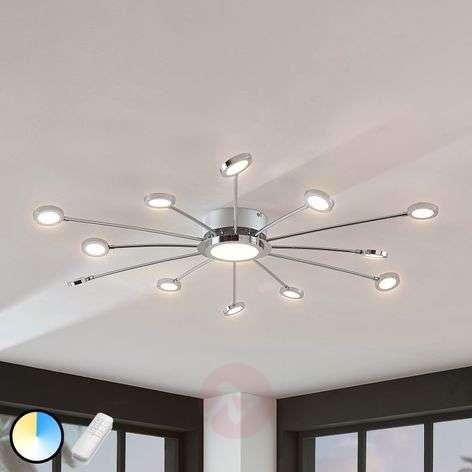 Large bright LED ceiling lamp Meru, remote control