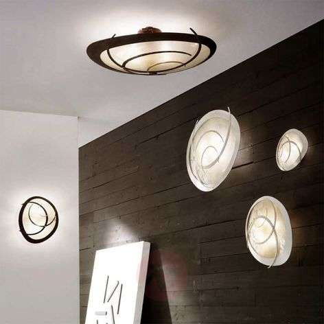Large ceiling light Galassia in white or rust