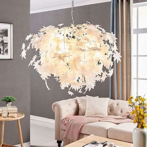 Large hanging light Maple with leaf decoration