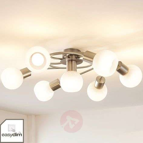 Large LED ceiling lamp Tanos, dimmable 7-bulb