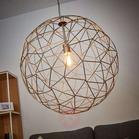 Large pendant lamp Cage made of metal