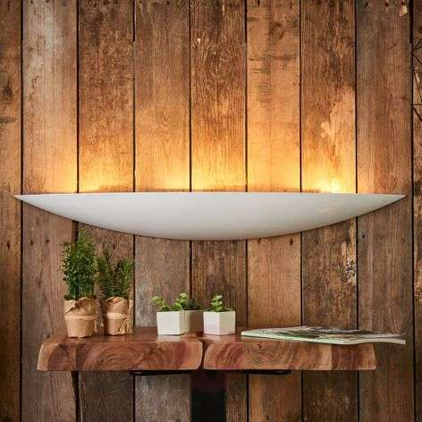 Large plaster wall lamp Tommi in white