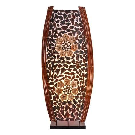 Large RONNI table lamp with floral pattern