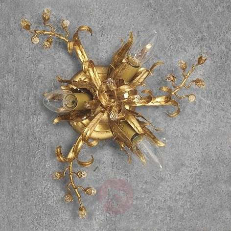 LATINA gold leaf ceiling light three-bulb