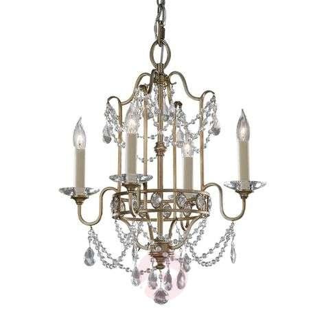 Lavishly ornamented chandelier Gianna