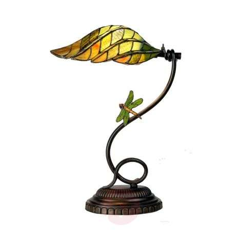 Leaf - aesthetic table lamp in the Tiffany style