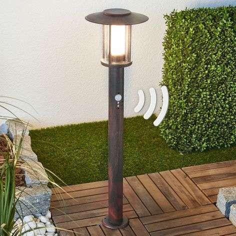 LED bollard lamp Pavlos with sensor