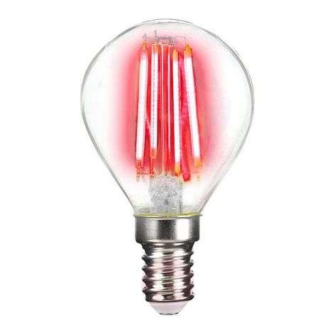 LED bulb E14 4 W filament, coloured light