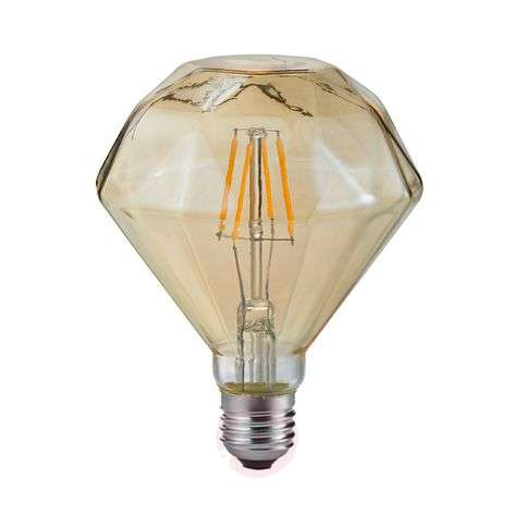LED bulb E27 4 W 2,700 K diamond filament amber