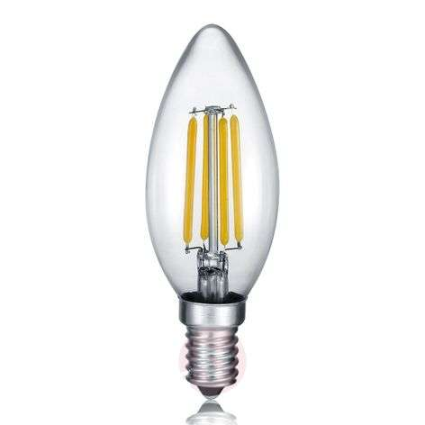 LED candle E14 4 W filament, 2,700 K switch dimmer