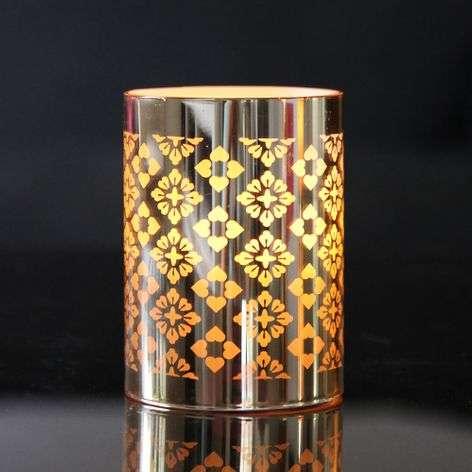 LED candle lantern Gull, reflective foil