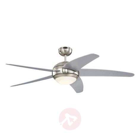 LED ceiling fan Bendan silver-coloured blades-9602289-32