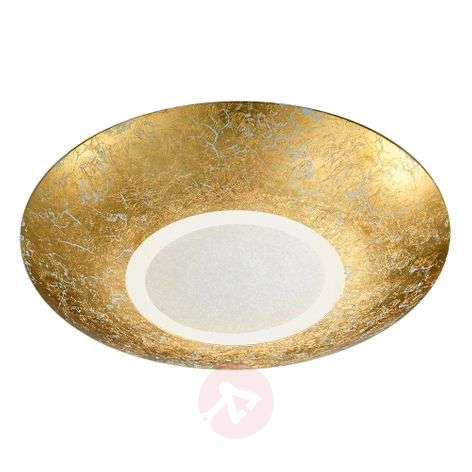 LED ceiling lamp Chiros Round Gold colour