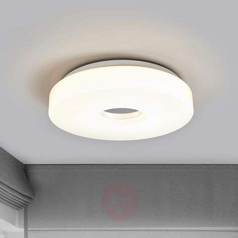 LED ceiling lamp Levina with chrome centre