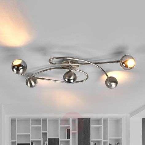 LED ceiling lamp, nickel matt