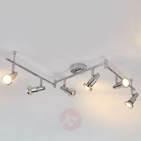 LED ceiling lamp Thom with adjustable arms, 6-bulb