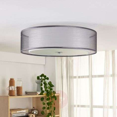 LED ceiling lamp Tobia dimmable by a switch, grey