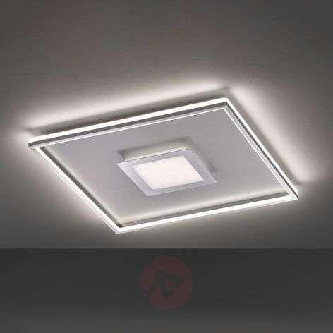 LED ceiling lamp Zoe, square, chrome