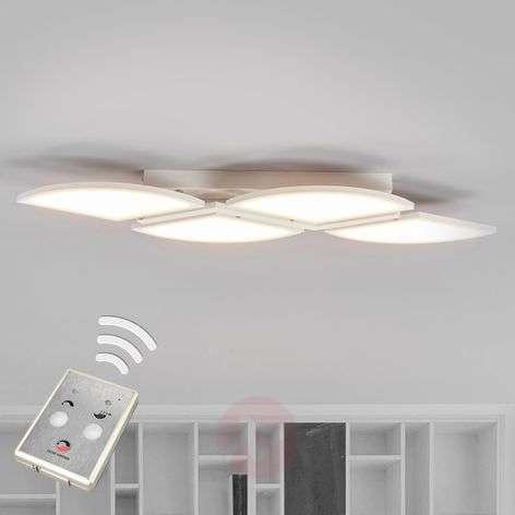 LED ceiling light Aurela, white, four-bulb