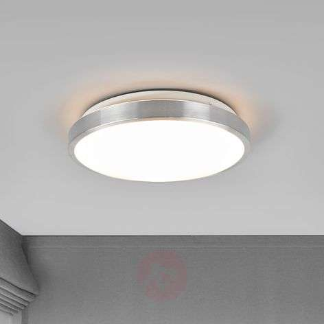 LED ceiling light Jasmin, aluminium-coloured frame