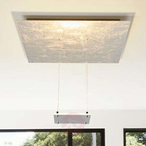 LED ceiling light Marlou with silver foil