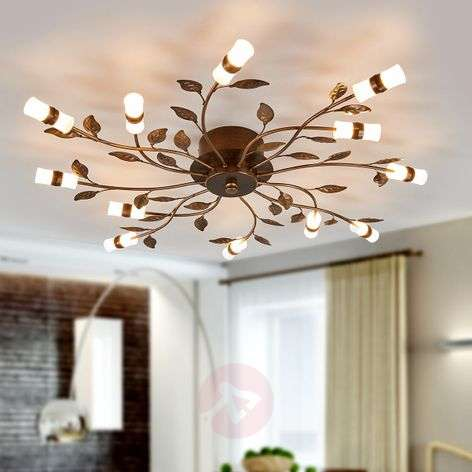 LED ceiling light Milian with a leaf design