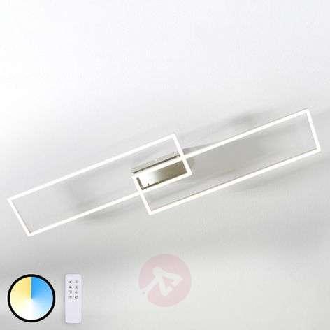 LED ceiling light Quadra, dimmable two-bulb 110 cm