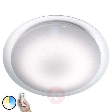 LED ceiling light Silara Sparkle, remote control