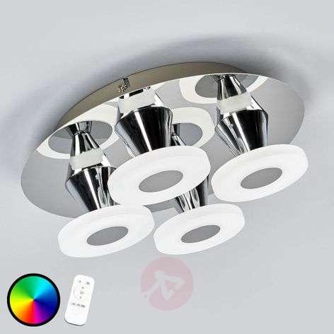 LED ceiling light Taisia with RGB, 4-bulb