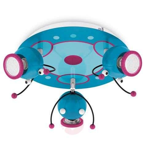 LED circular ceiling spotlight Raupi for kids