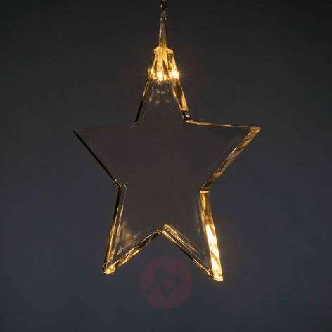 LED curtain light with eight stars for indoor use