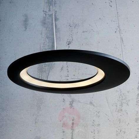 LED designer hanging light Ecliptic in black 65 cm