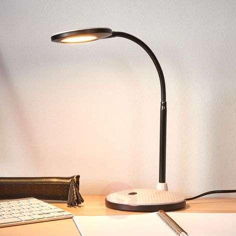 LED desk lamp Ivan in light grey and black