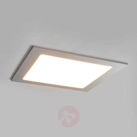 LED downlight Joki in silver, IP44