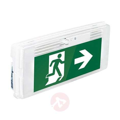 LED emergency light with IP42, wall installation
