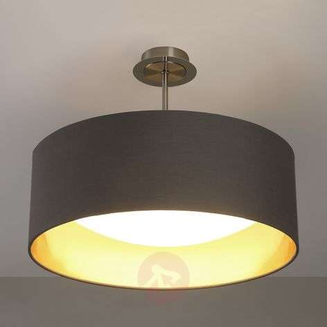 Ceiling lights lights led fabric ceiling lamp coleen in grey and gold aloadofball Images