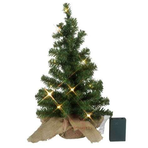 LED fir tree Tree contained in a gunnysack