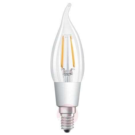 LED flame tip bulb E14 5W, warm white, clear